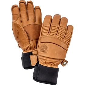 Hestra Leather Fall Line 5 fingerhandsker, brun